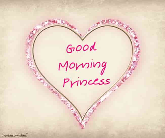 good morning images for princess