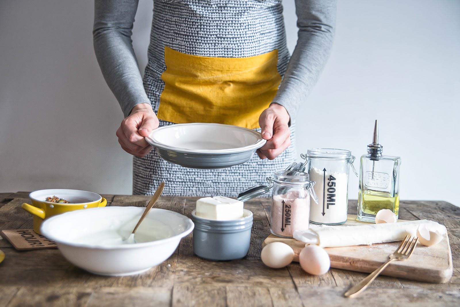 Dwa pomysły na kurki: risotto i serowa tarta + nowa marka akcesoriów kuchennych HOMLA