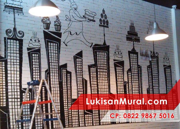 0823 1637 6688 lukisan dinding kamar keren lukisan mural for Mural hitam putih