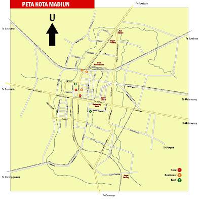 Gambar Peta Kota Madiun