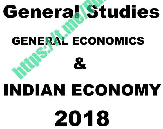 Sriram Economy Notes Pdf