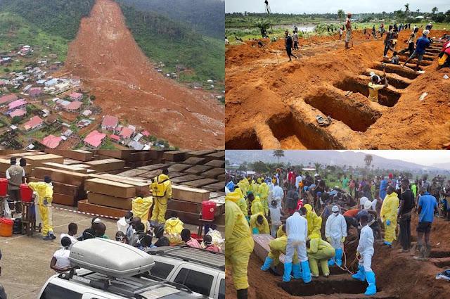 Sierra Leone mudslide mass burial
