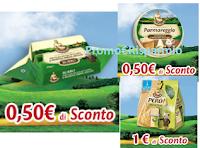 Logo Parmareggio: buoni sconto Burro, Formaggini e Snack Però