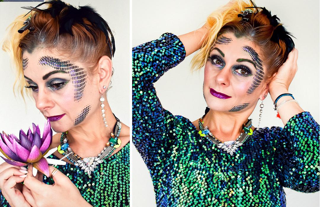 Kostüm Idee mit Schminkanleitung für Karneval, Halloween und Fasching