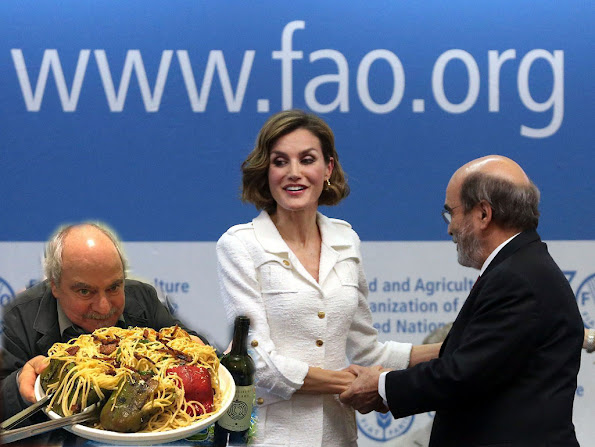 Spanish Minister of Food and Agriculture Isabel Garcia Tejerina, FAO Director-General Jose Graziano da Silva and Queen Letizia