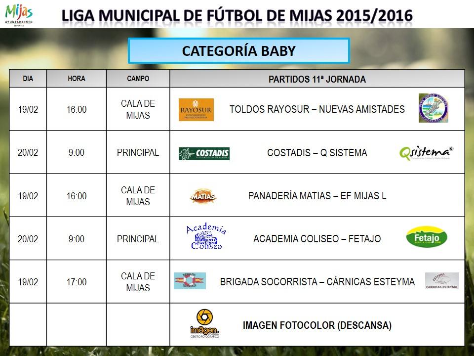 Horarios 11 j liga municipal 2015 2016 for Liga municipal marca
