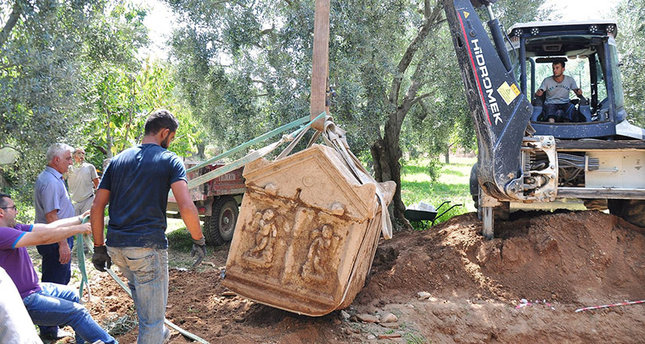 Three more sarcophagi discovered at olive grove thought to be necropolis of ancient Nikaia
