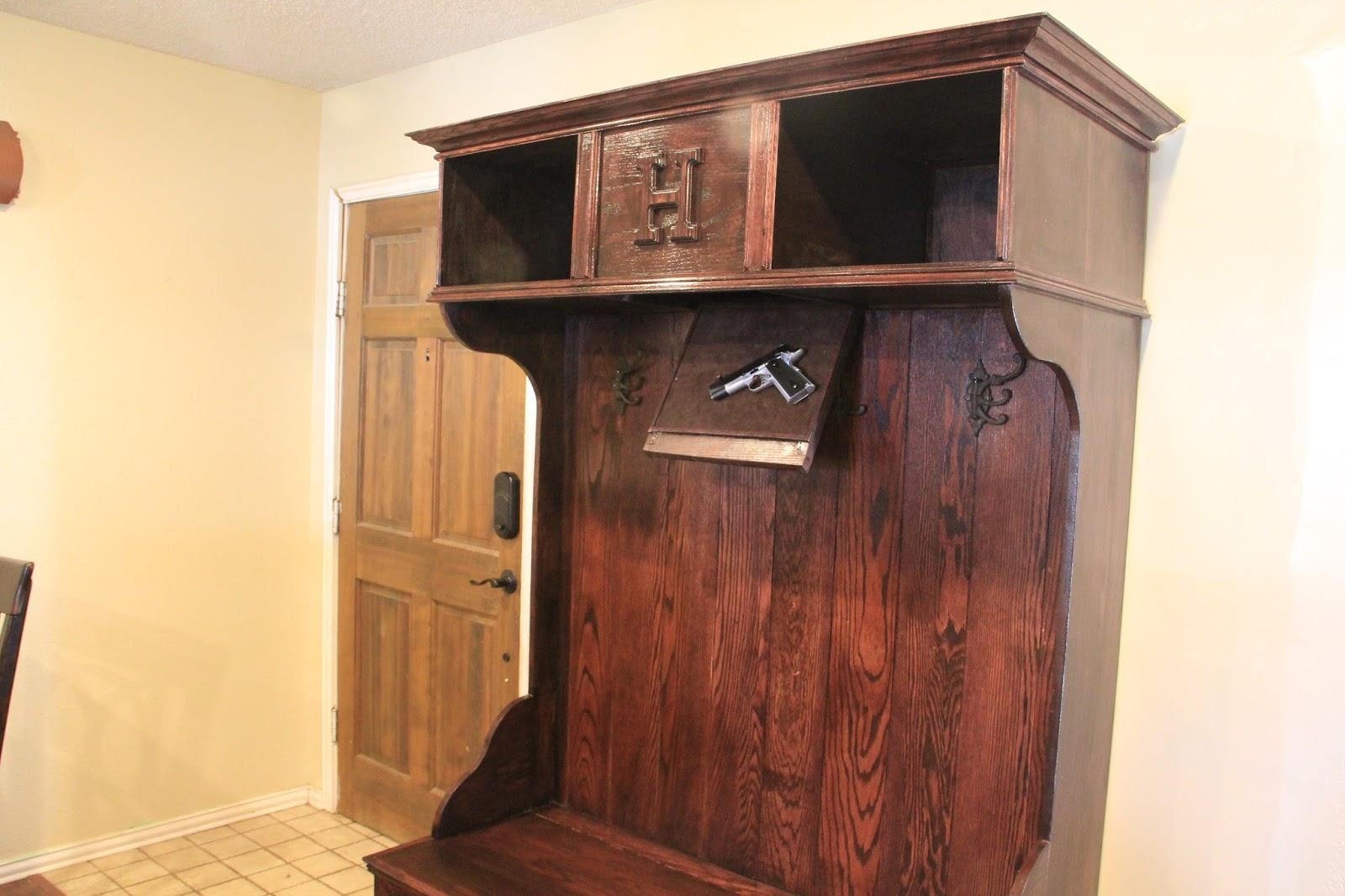 Rusty Hinge Hall Tree Gun Cabinet