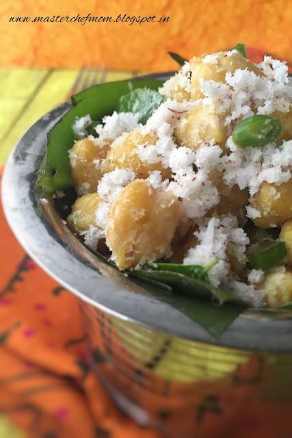Kondakadalai Sundal | Tamilnadu Style Masala Chana Sundal