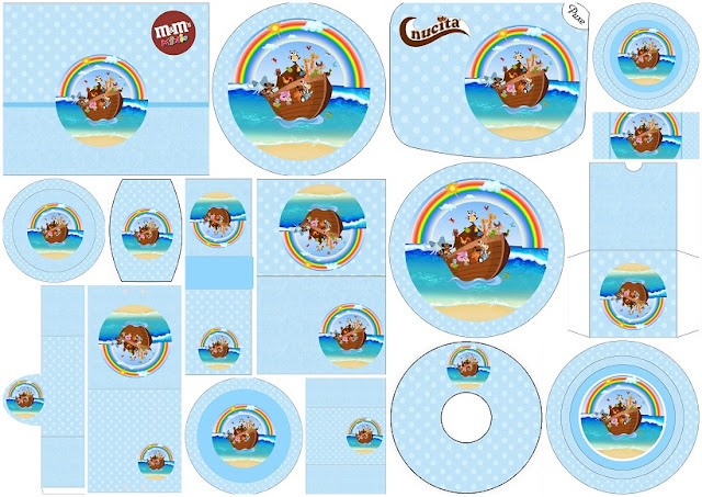 photo relating to Free Printable Pictures of Noah's Ark known as Noah´s Ark for Boys: Totally free Printable Sweet Buffet Labels