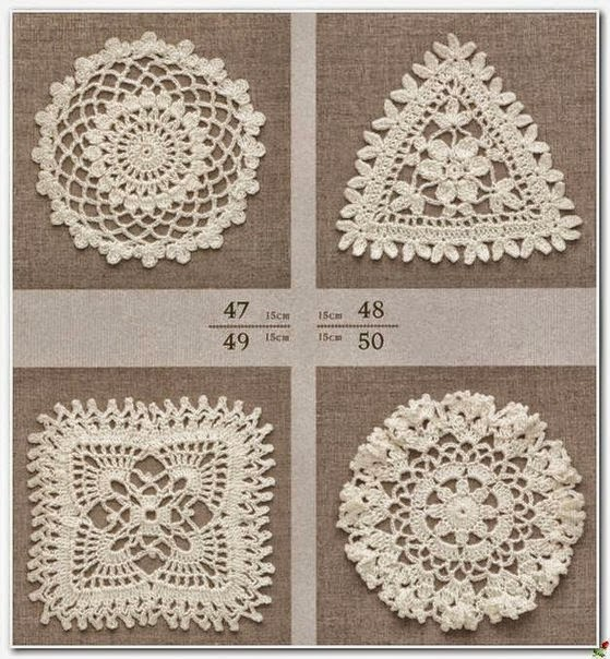 Apliques variados al crochet | Crochet y Dos agujas - Patrones de tejido
