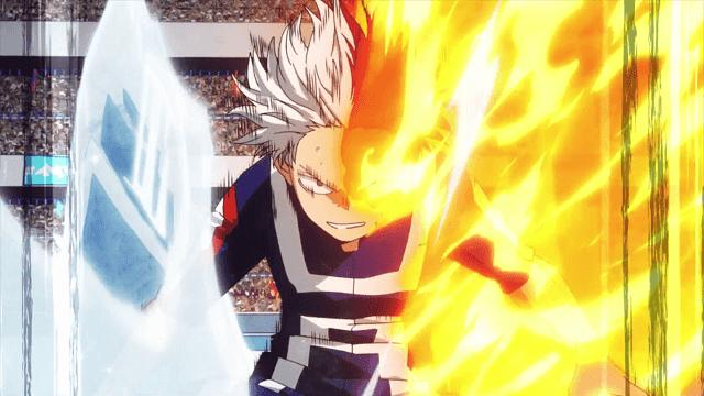 Tak hanya jurus api, Todoroki juga menguasai elemen es