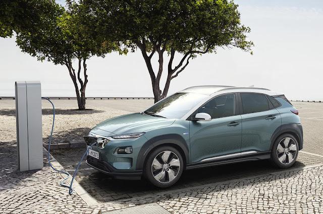 New Hyundai Kona Electric front view