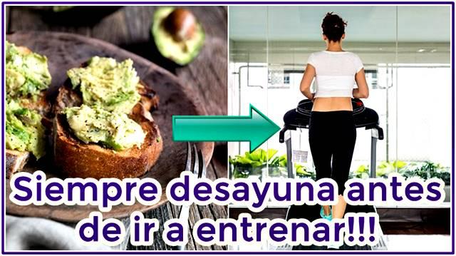Siempre debes desayunar antes de ir a entrenar no importa cuál sea tu objetivo