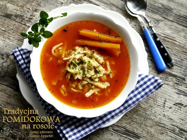 Tradycyjna pomidorowa ze świeżych pomidorów na rosole - Czytaj więcej »
