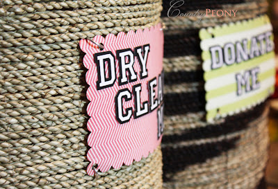 Dry Clean and Clothes Donation Baskets
