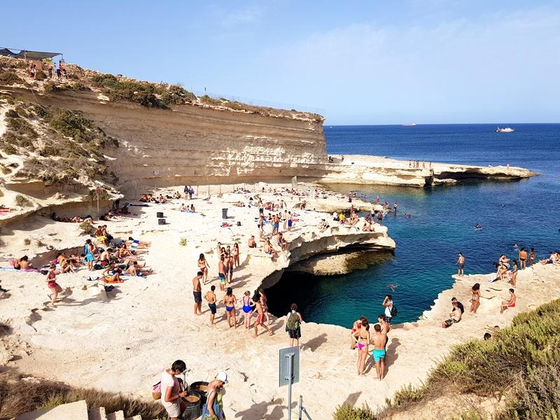 St. Peter's Pool, plaża, Malta, wyspy, zakreecona, plaże na Malcie