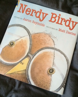 http://www.amazon.com/Nerdy-Birdy-Aaron-Reynolds/dp/1626721270/ref=sr_1_1?ie=UTF8&qid=1461187091&sr=8-1&keywords=nerdy+birdy