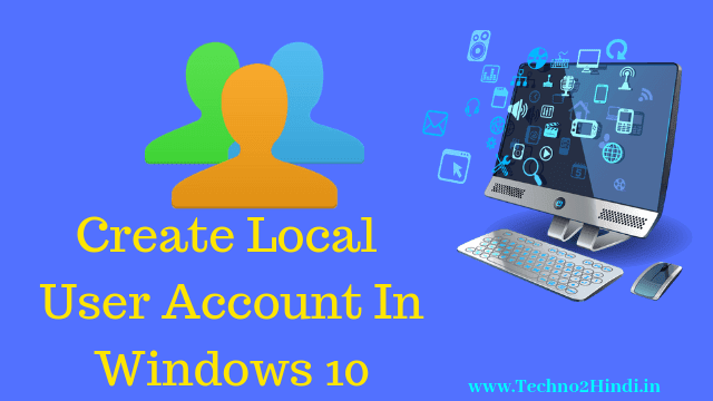 How to create user account in Computer/Laptop in hindi