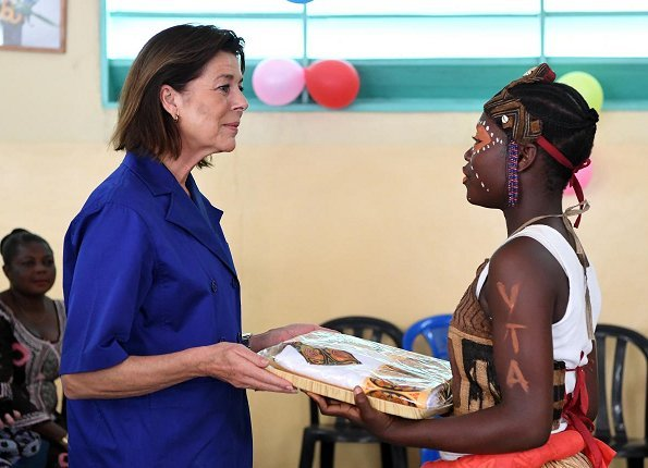 President of the World Association of Children's Friends (AMADE), Princess Caroline of Hanover visited the Kinshasa city