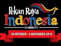 Jadwal Pekan Raya Indonesia 2016 dan Eventnya