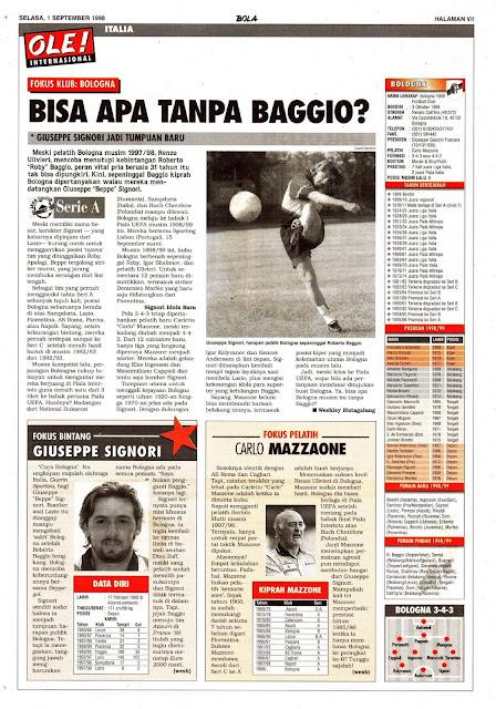 LEGA CALCIO SERIE A BOLOGNA CLUB PROFILE