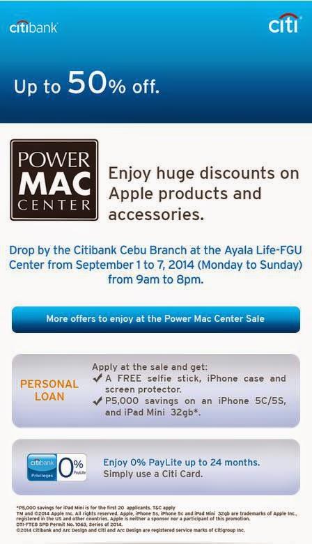 Manila Shopper: Power Mac Center x Citibank Cebu SALE: Sept 2014