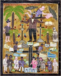 Bannière Bawon, 2005. Haïti Myrlande Constant