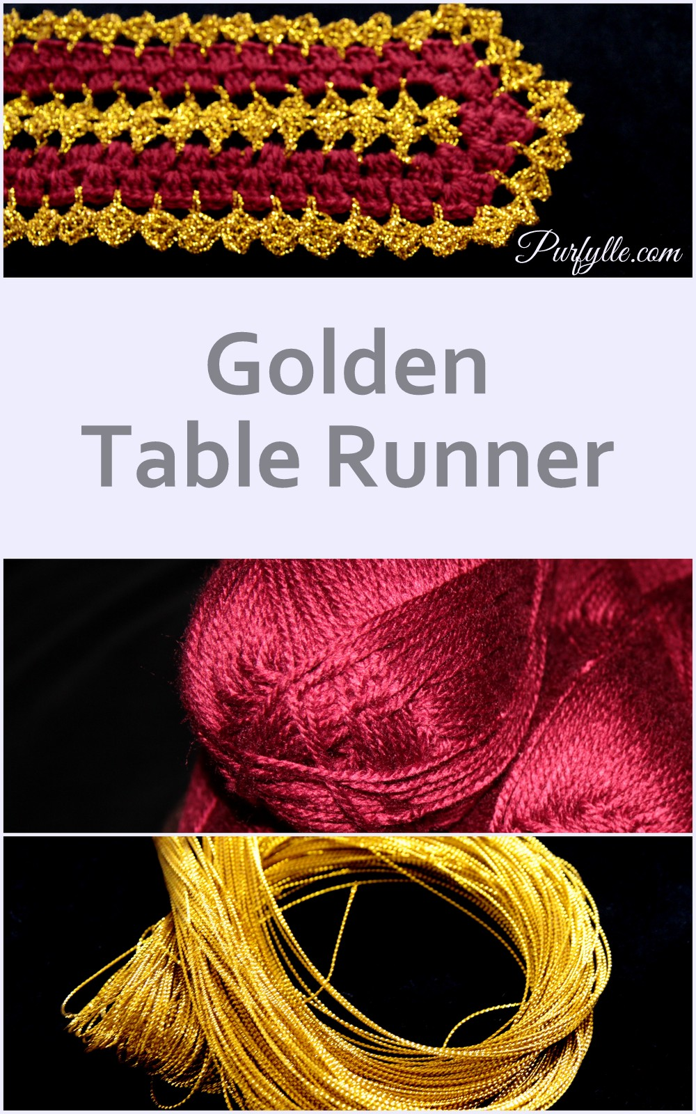 Golden Table Runner Free Crochet Pattern