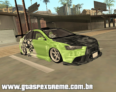 Mitsubishi Evolution X - Tuning para grand theft auto