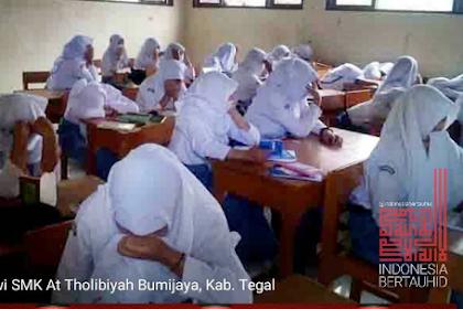 Kasihan, Begini Ekspresi Siswa Yang Diminta Buka Cadar Oleh Dinas Pendidikan