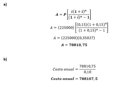 Ejercicio 2.5 Tarquin Ingeniería Económica