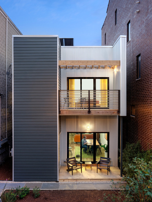 Big Plans Little Budget Soffit B Gone: Collection: 50 Beautiful Narrow House Design For A 2 Story