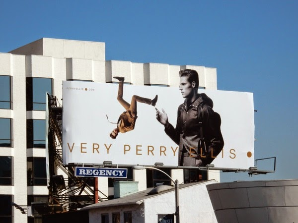 Very Perry Ellis Spring 2015 backflip billboard