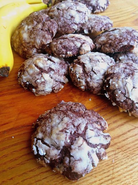 Popękane ciasteczka czekoladowe z bananem / Chocolate Banana Crinkles