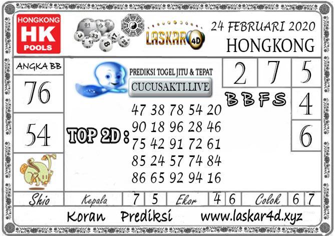 Prediksi Togel HONGKONG LASKAR4d 24 FEBRUARI 2020