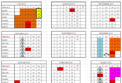 gambar kalender pendidikan 2016/2017 dilengkapi hitungan hari dan ahad efektif