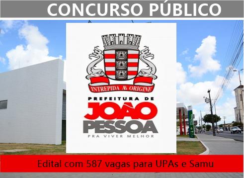 concurso samu da Prefeitura de João Pessoa 2018