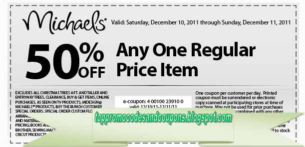 free printable michaels coupons - Christmas Tree Store Coupon