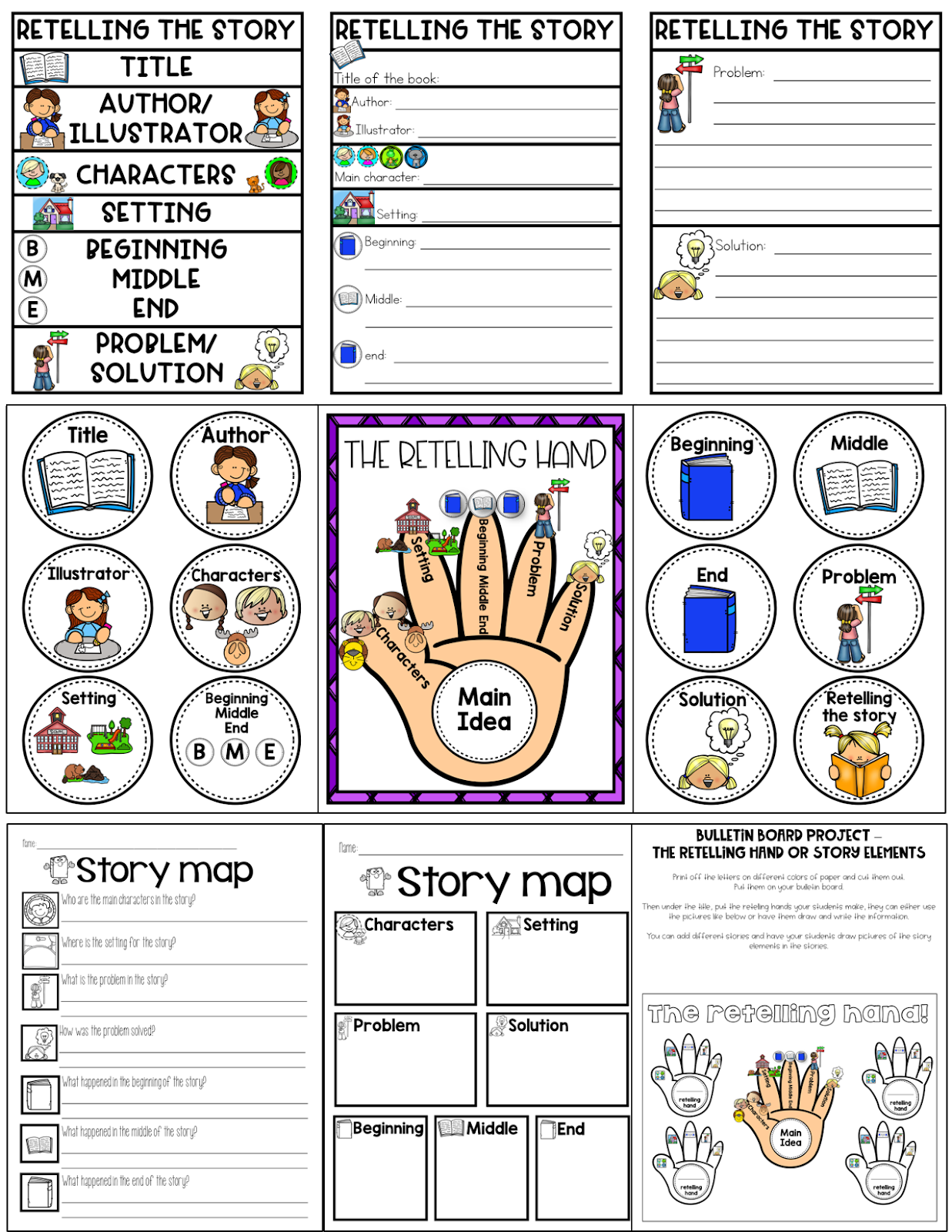 Simply Delightful in 2nd grade: The retelling hand [ 1600 x 1237 Pixel ]