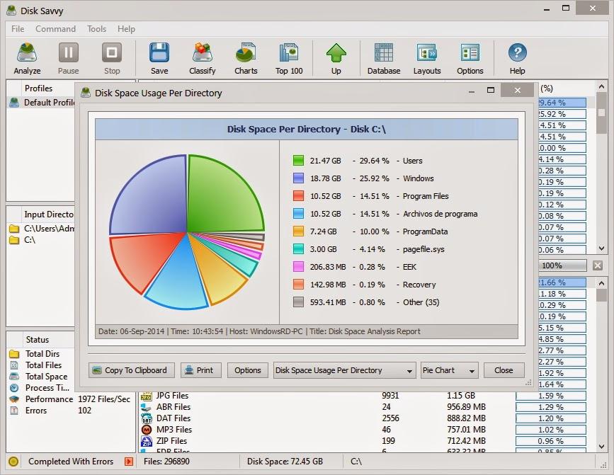 Descubre que archivos devoran espacio en tu disco duro