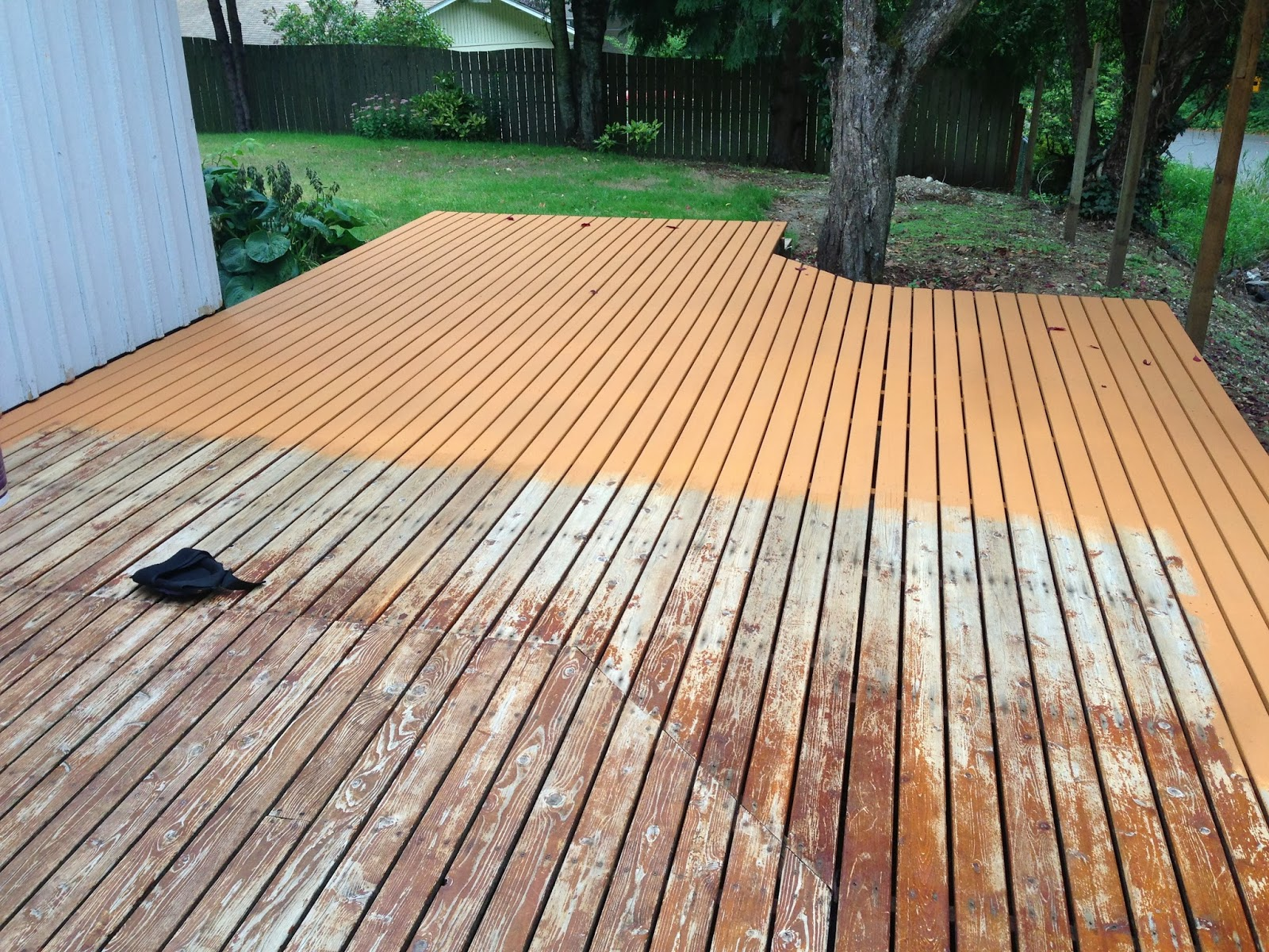 Deck Staining Behr Deckover Before After Mac Amp Cheese