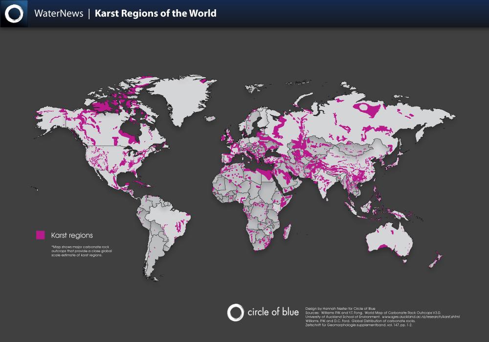 Days Of Karst Day The Distribution Of Karst Landscapes - Georgia karst map