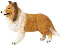 Collie Toy Dog Figurine Mini