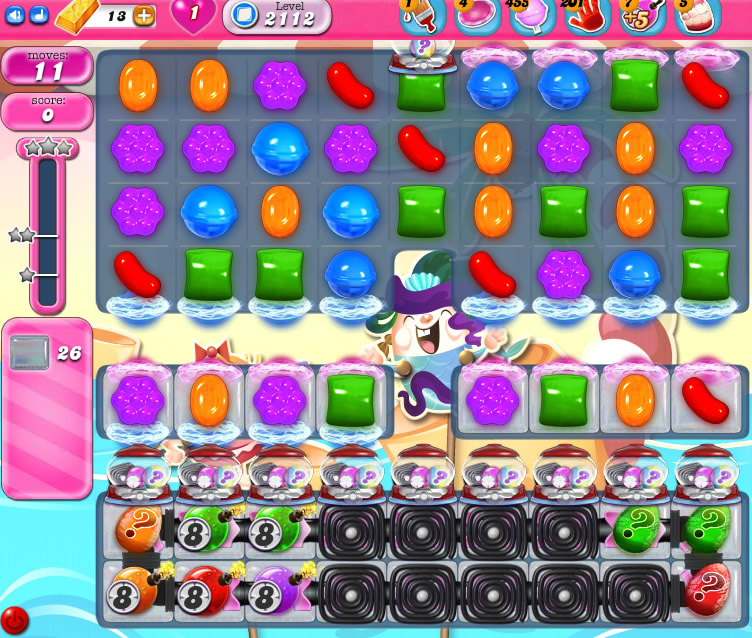 Candy Crush Saga level 2112