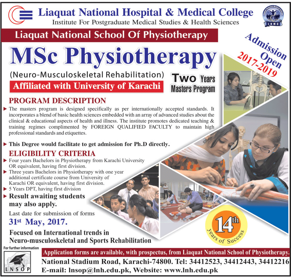 Admission Open in Liaquat National Hospital and Medical College