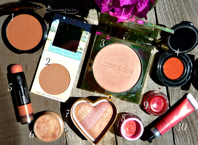 My 10 favorite blushes and bronzers for summer!