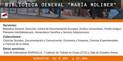 ¿Conoces lo que te ofrece la Biblioteca General María Moliner de la Universidad de Murcia?