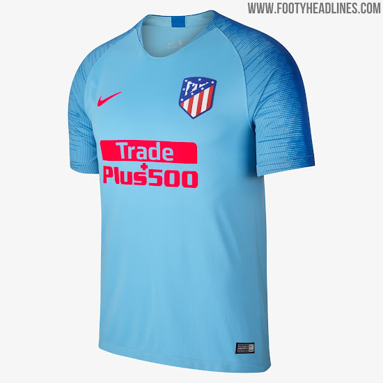6a8be787f Atletico 18-19 Away Kit. Atletico Madrid Away Kit 2018-19. Buy now. Free  worldwide delivery on all orders