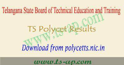 TS Polycet results 2019, polytechnic result manabadi